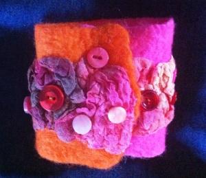bracelet pink and orange 2